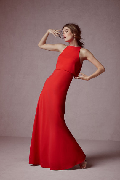 Jill Jill Stuart Apple Red Iva Crepe Maxi | BHLDN