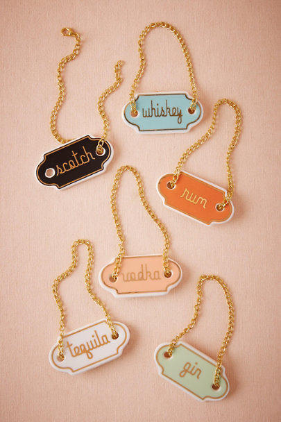 Assorted Ceramic Bottle Tags (6) | BHLDN