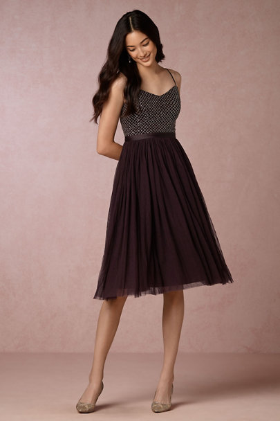 Needle & Thread Aubergine Coppelia Dress | BHLDN