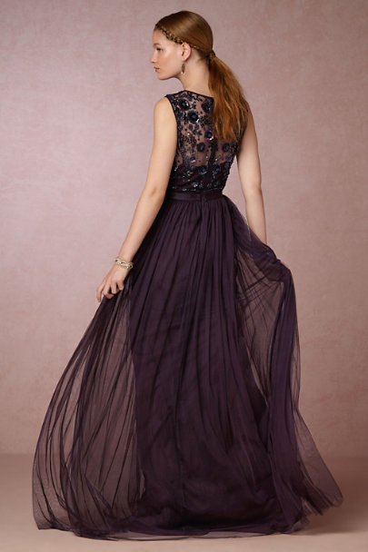 Needle & Thread Aubergine Mariel Dress | BHLDN