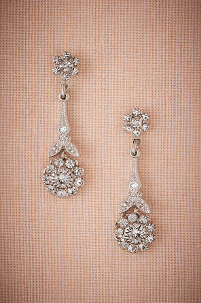Ti Adoro Silver Stem & Blossom Earrings | BHLDN
