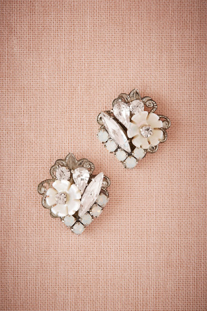 Ti Adoro Silver Florissa Earrings | BHLDN