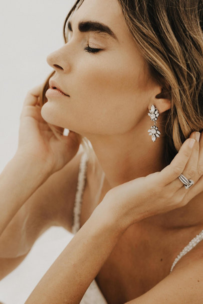 Ti Adoro Silver Myrtle Drop Earrings | BHLDN