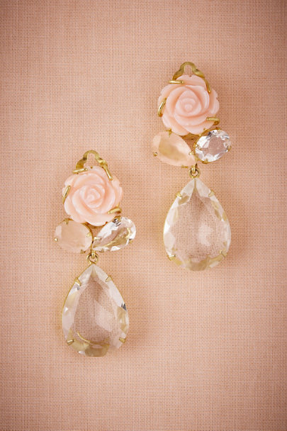 Bounkit Gold Rosella Quartz Drop Earrings | BHLDN