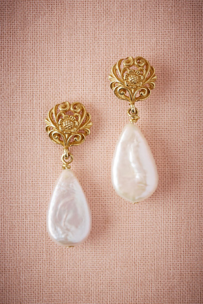 Gold Vermeil Teardrop Earrings | BHLDN