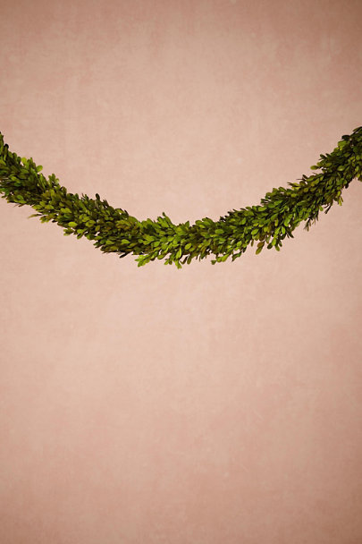 Green Verdant Boxwood Garland | BHLDN