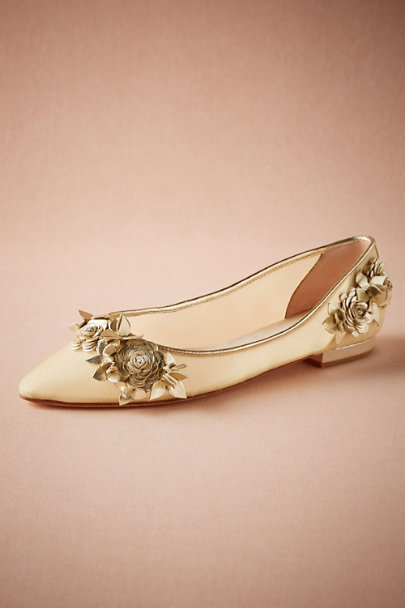 Harriet Wilde Gold Lennox Flats | BHLDN