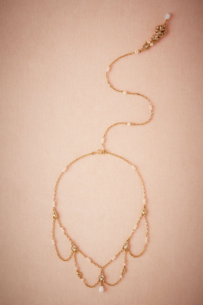 Ben-Amun Gold Thea Back Drop Necklace  | BHLDN