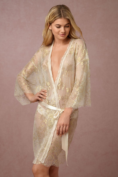 Hanky Panky Gold Brie Robe | BHLDN