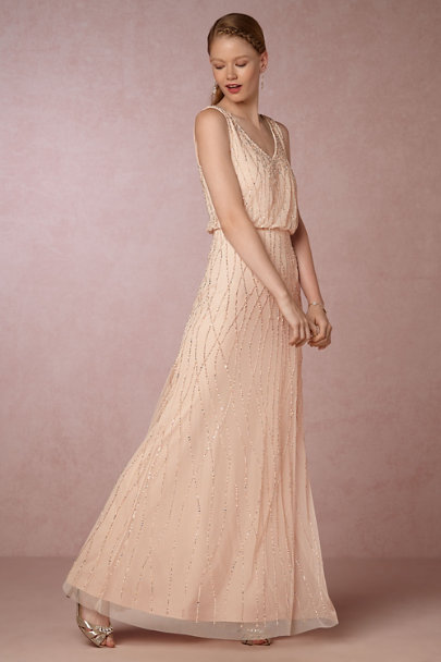 Adrianna Papell Champagne Brooklyn Dress | BHLDN