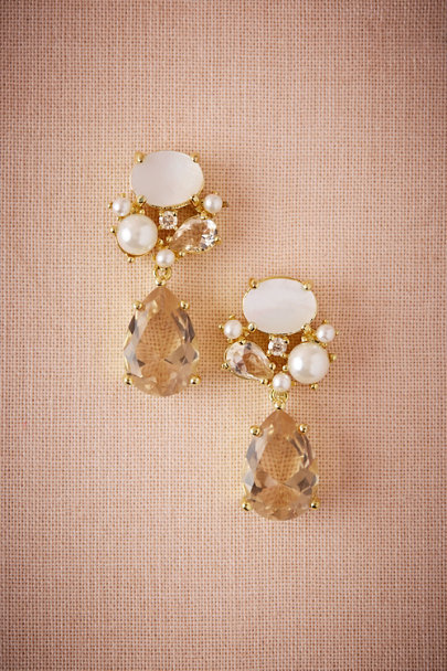 Jardin Gold Rochelle Crystal Drop Earrings | BHLDN