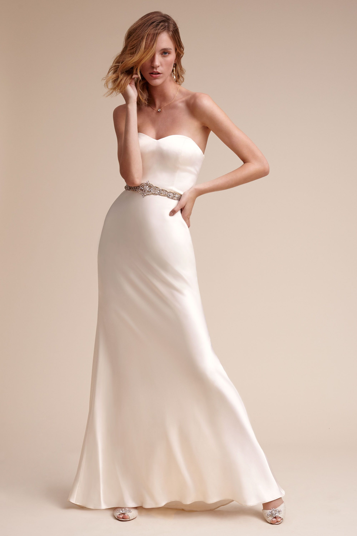 Wedding Sheath Wedding Dresses sheath column wedding dresses bhldn gina gown gown