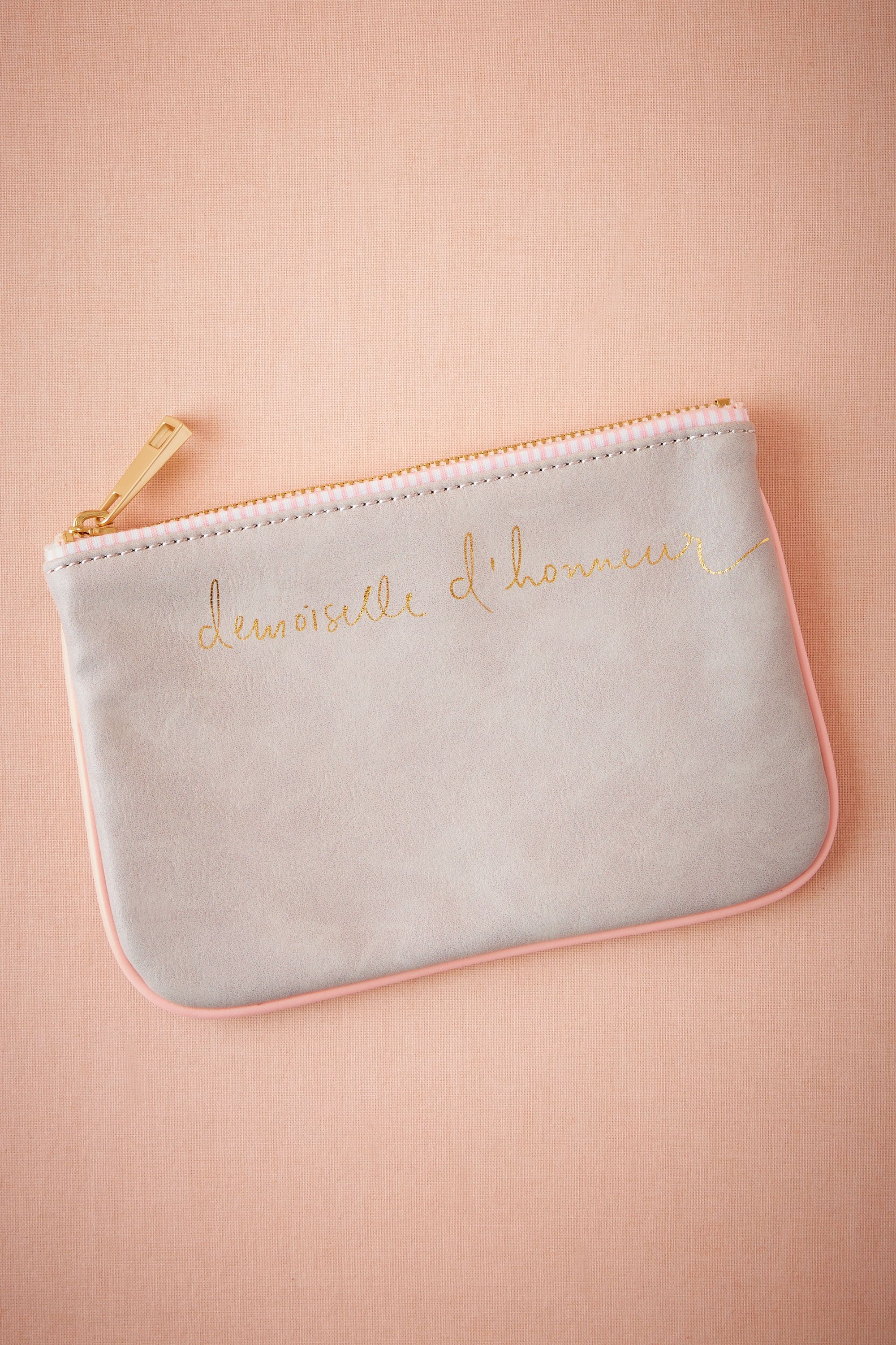 Scripted Bridesmaid Pouch