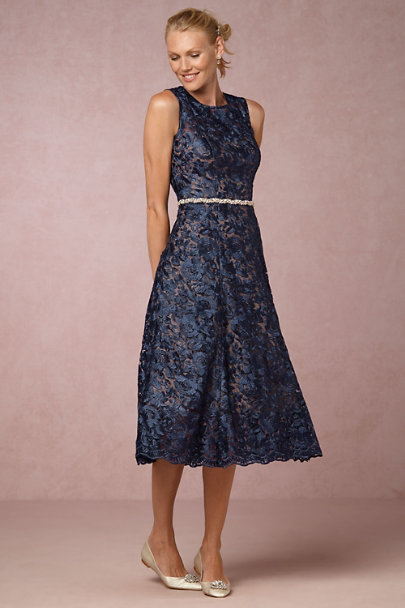 Hitherto Navy/Nude Adela Dress | BHLDN