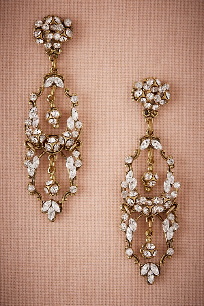 Gold Freyr Chandelier Earrings | BHLDN