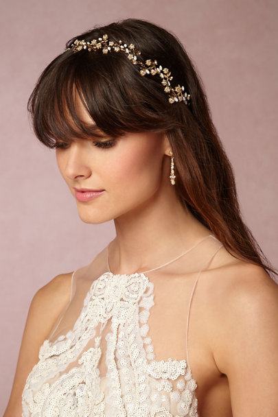 Gold Yves Halo | BHLDN