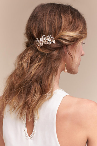 Twigs & Honey Gold Bursting Blooms Comb | BHLDN