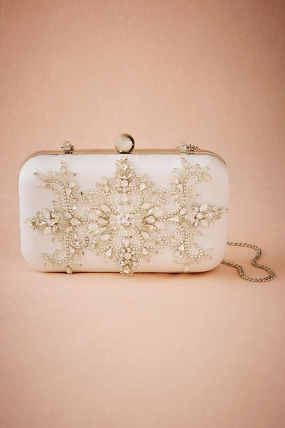 White Bridgette Clutch | BHLDN