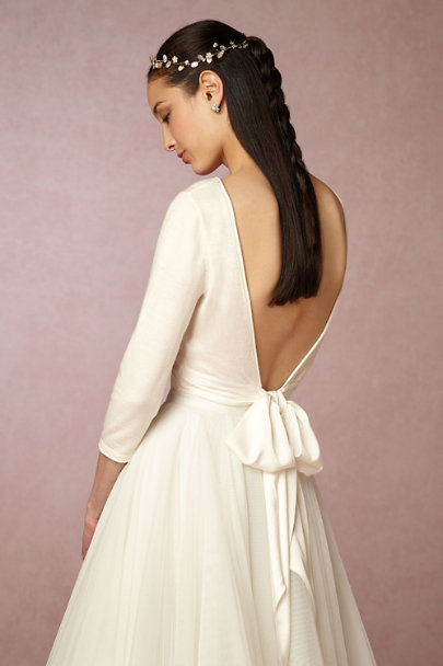 Untamed Petals Gold Avignette Halo | BHLDN