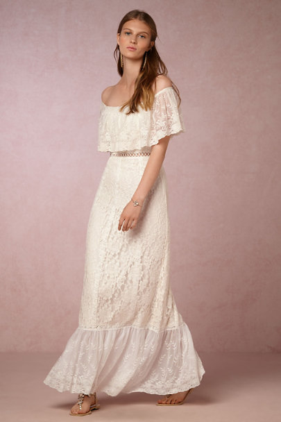 Yoana Baraschi Cream Anaelle Dress | BHLDN
