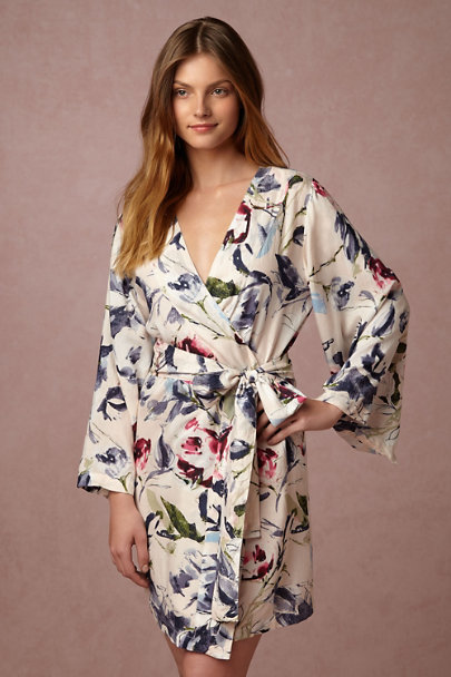 Plum Pretty Sugar Amelia Botanic Garden Robe  | BHLDN