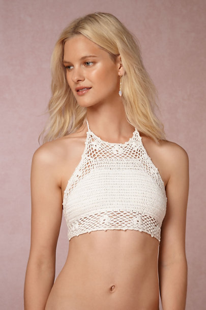 PilyQ White Kate Crochet Bikini Top | BHLDN