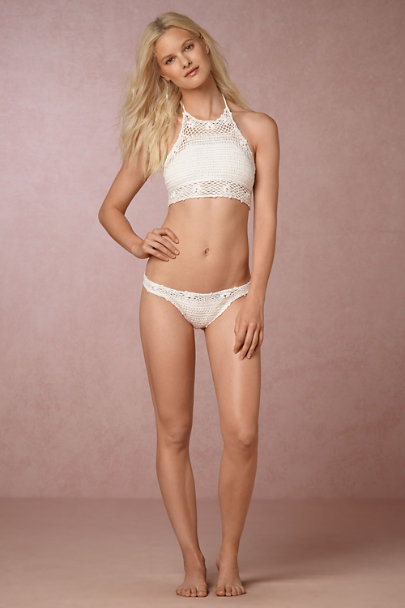 PilyQ White Kate Crochet Bikini Bottom | BHLDN