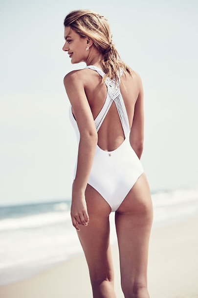Malai Swimwear White Cali One-Piece | BHLDN
