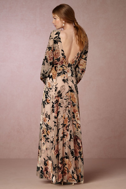 James Coviello Floral Burnout Ilona Dress | BHLDN