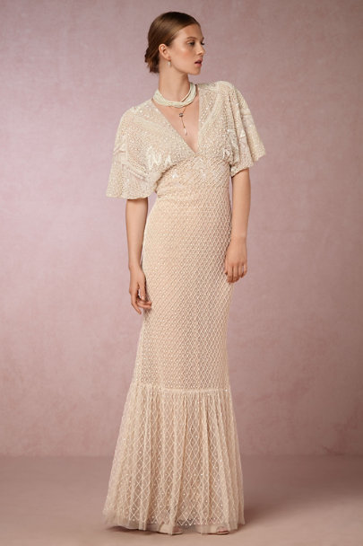 Lotus Threads Cream/Latte Sedona Gown | BHLDN