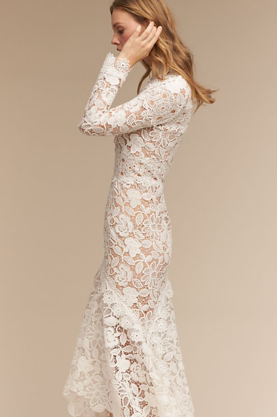 Costarellos Ivory/Champagne Nessa Gown | BHLDN