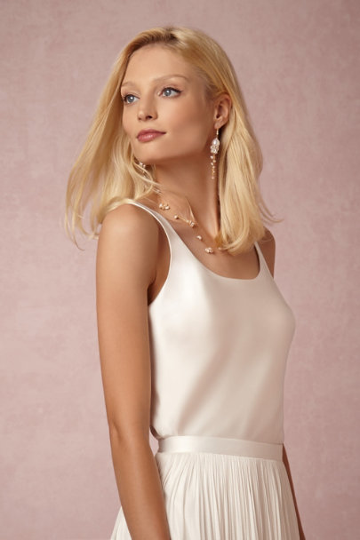 Natori Warm White In Perpetuity Camisole Top | BHLDN
