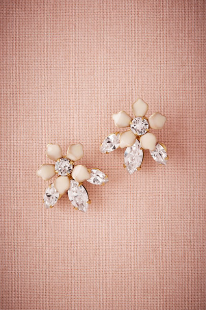 Debra Moreland Gold Jasmine Crystal Earrings | BHLDN