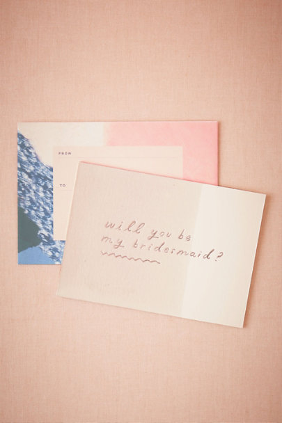 Bridesmaid Dipped Be My Maids Card | BHLDN