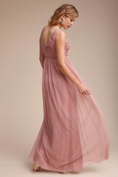Adrianna Papell Rose Quartz Orlene Dress | BHLDN