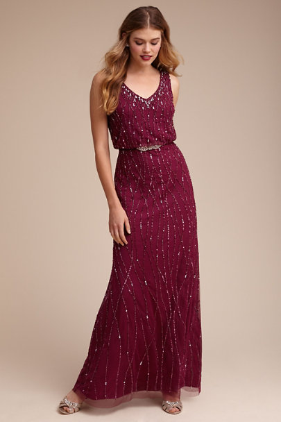Adrianna Papell Black Cherry Brooklyn Dress | BHLDN