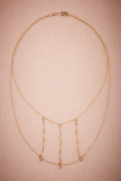 Taylor Kenney Gold Ventana Necklace | BHLDN