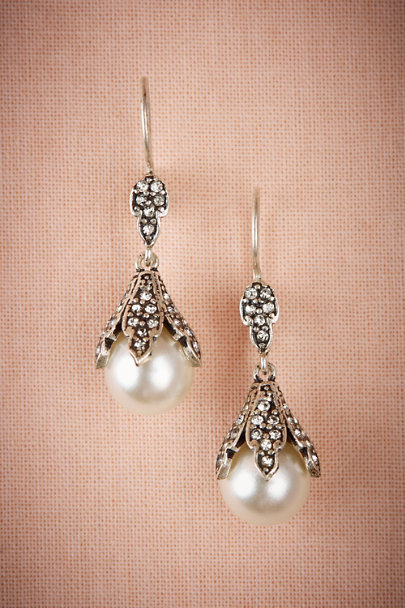 Azaara Silver Miriam Pearl Drop Earrings | BHLDN