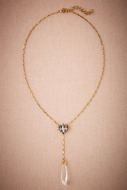 Crystal Lacrame Necklace