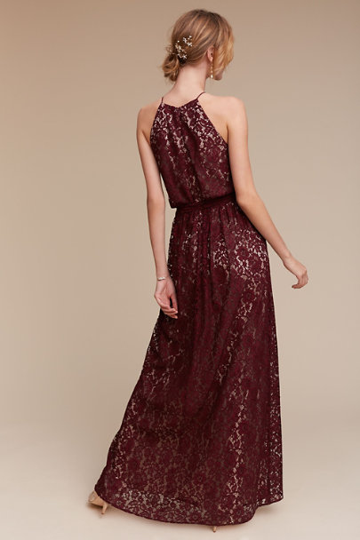 Donna Morgan Black Cherry Alana Dress | BHLDN