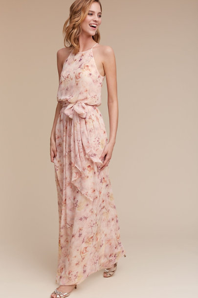 Donna Morgan Blush Wildflower Alana Dress | BHLDN