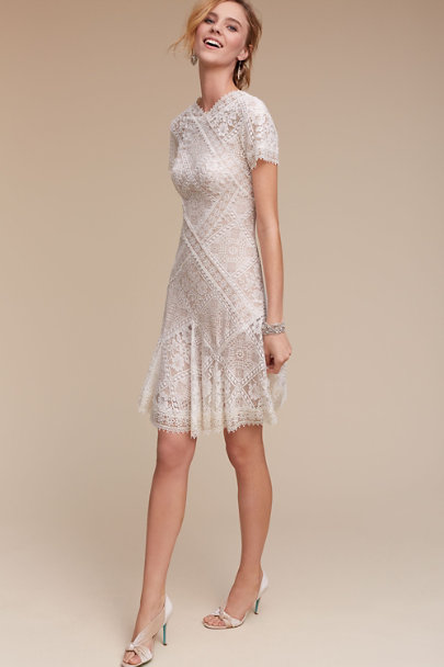 Tadashi Shoji White/Willow Hudson Dress | BHLDN