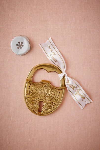 Gold Love Lock Bottle Opener | BHLDN