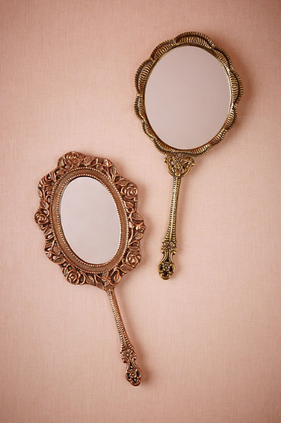 Bronze Scalloped Vanity Mirror | BHLDN