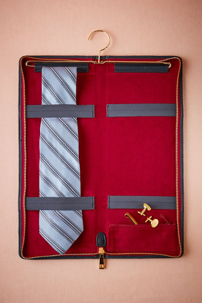 Navy Groom's Tie Case | BHLDN
