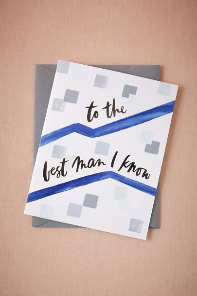 Blue To the Best Man I Know Card | BHLDN