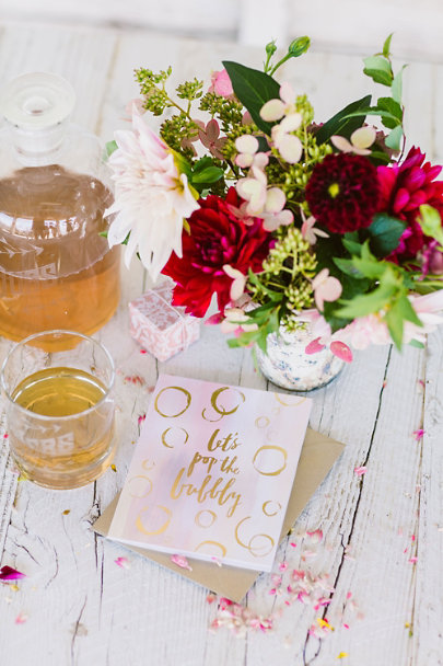 Rose Pop the Bubbly Card | BHLDN
