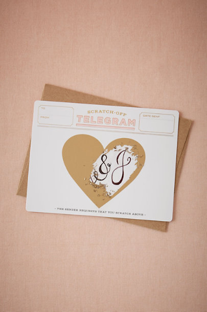 White DIY Scratch-Off Telegrams | BHLDN