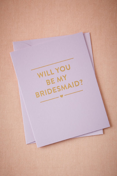 Purple Lavender Maids Card | BHLDN