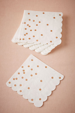 Rose Gold Dot Napkins (16)